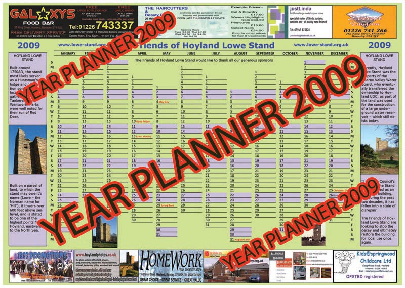 The Group's Year Planner
